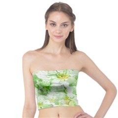 Light Floral Collage  Tube Top