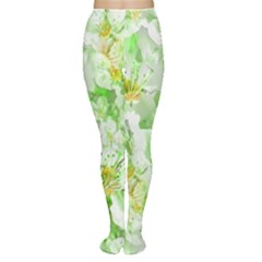 Light Floral Collage  Women s Tights