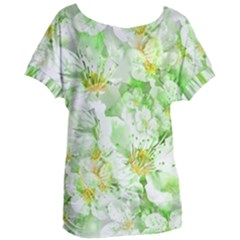 Light Floral Collage  Women s Oversized Tee