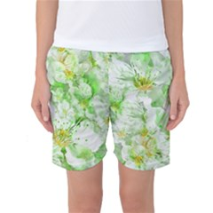 Light Floral Collage  Women s Basketball Shorts