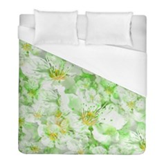 Light Floral Collage  Duvet Cover (full/ Double Size)