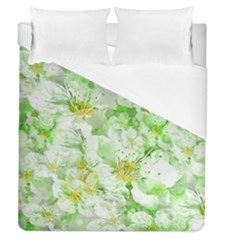 Light Floral Collage  Duvet Cover (queen Size)