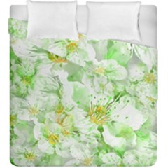 Light Floral Collage  Duvet Cover Double Side (king Size)
