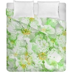 Light Floral Collage  Duvet Cover Double Side (california King Size)