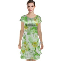 Light Floral Collage  Cap Sleeve Nightdress