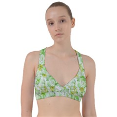 Light Floral Collage  Sweetheart Sports Bra