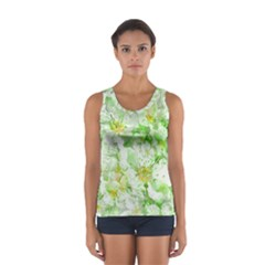Light Floral Collage  Sport Tank Top