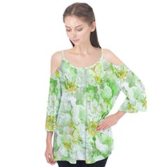 Light Floral Collage  Flutter Tees