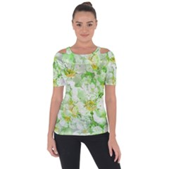 Light Floral Collage  Short Sleeve Top