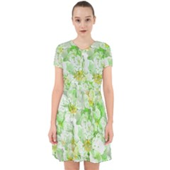 Light Floral Collage  Adorable In Chiffon Dress