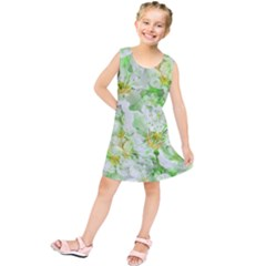 Light Floral Collage  Kids  Tunic Dress