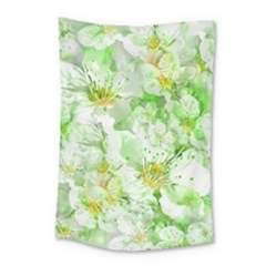 Light Floral Collage  Small Tapestry