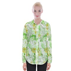 Light Floral Collage  Womens Long Sleeve Shirt