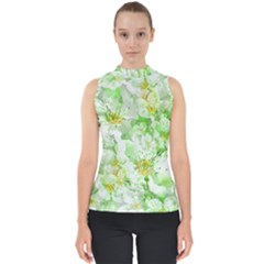 Light Floral Collage  Shell Top