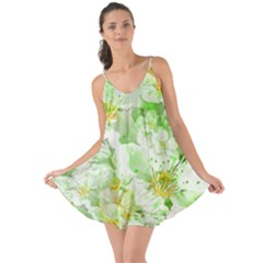 Light Floral Collage  Love The Sun Cover Up