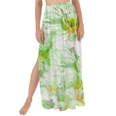 Light Floral Collage  Maxi Chiffon Tie Up Sarong