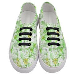 Light Floral Collage  Women s Classic Low Top Sneakers