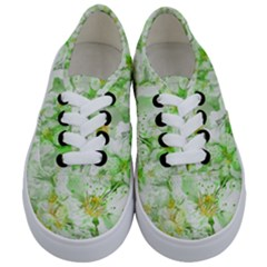 Light Floral Collage  Kids  Classic Low Top Sneakers