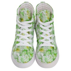 Light Floral Collage  Women s Hi Top Skate Sneakers