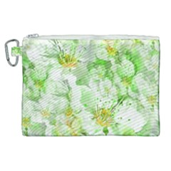Light Floral Collage  Canvas Cosmetic Bag (xl)
