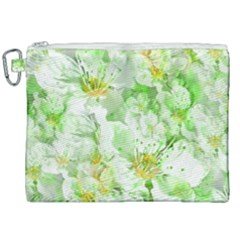 Light Floral Collage  Canvas Cosmetic Bag (xxl)