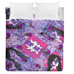 Purlpe Retro Pop Duvet Cover Double Side (queen Size)