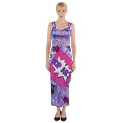 Purlpe Retro Pop Fitted Maxi Dress