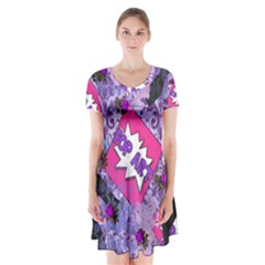 Purlpe Retro Pop Short Sleeve V Neck Flare Dress