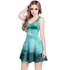 Green Ocean Splash Reversible Sleeveless Dress
