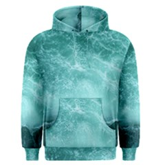 Green Ocean Splash Men s Pullover Hoodie