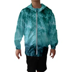 Green Ocean Splash Hooded Wind Breaker (kids)