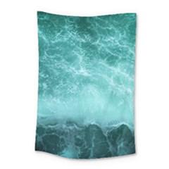 Green Ocean Splash Small Tapestry