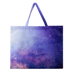 Galaxy Zipper Large Tote Bag