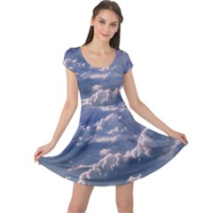In The Clouds Cap Sleeve Dress