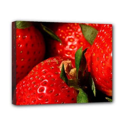 Red Strawberries Canvas 10  X 8