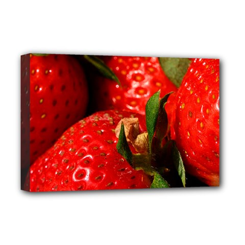 Red Strawberries Deluxe Canvas 18  X 12