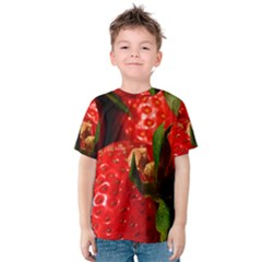 Red Strawberries Kids  Cotton Tee