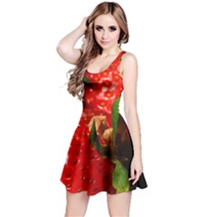Red Strawberries Reversible Sleeveless Dress