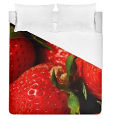 Red Strawberries Duvet Cover (queen Size)