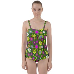 Abstract 1300667 960 720 Twist Front Tankini Set