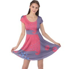 Lollipop Attacked By Hearts Cap Sleeve Dress