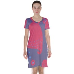 Lollipop Attacked By Hearts Short Sleeve Nightdress