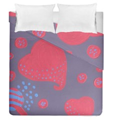 Lollipop Attacked By Hearts Duvet Cover Double Side (queen Size)