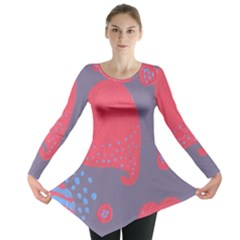 Lollipop Attacked By Hearts Long Sleeve Tunic