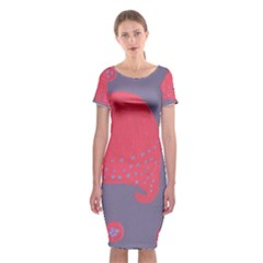 Lollipop Attacked By Hearts Classic Short Sleeve Midi Dress