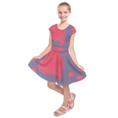 Lollipop Attacked By Hearts Kids  Short Sleeve Dress
