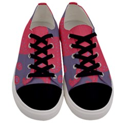 Lollipop Attacked By Hearts Men s Low Top Canvas Sneakers