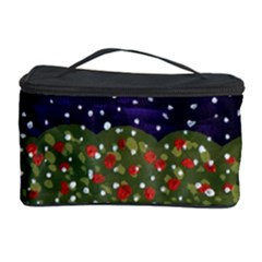 Snowy Roses Cosmetic Storage Case