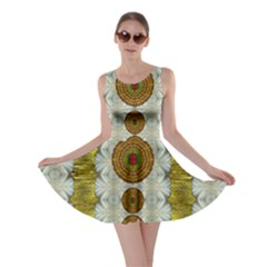 Spring In Mind And Flowers In Soul Be Happy Skater Dress