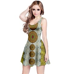 Spring In Mind And Flowers In Soul Be Happy Reversible Sleeveless Dress